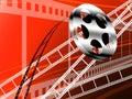影片主街上和卷,戏院技术 免版税库存图片
