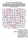 情人节、爱或者婚 的十字形文字游戏 库存图片