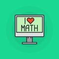 我爱数学标志 库存照片