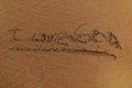 我爱果阿,抽象沙子背景 库存图片