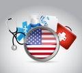 我 健康保险概念例证设计 免版税图库摄影