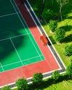 户外网球场新的表面 免版税库存照片
