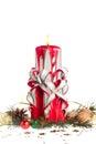 手工制造圣诞节蜡烛 免版税库存图片