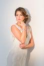 抽象背景新娘礼服女孩婚礼  人 免版税库存照片