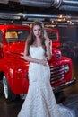 抽象背景新娘礼服女孩婚礼  人 免版税图库摄影