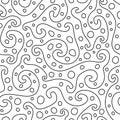 抽象装饰品无缝的向量墙纸 免版税库存图片