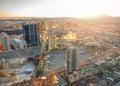 拉斯 加斯都市风景 库存照片