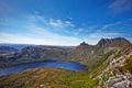 摇篮山和dove湖,塔斯马尼亚岛 免版税库存图片