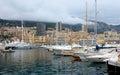 摩纳哥 在口岸赫拉克勒斯的游艇 图库摄影