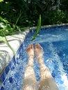 放松的池 免版税库存照片