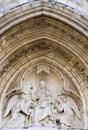 教会详细资料巴黎severin st 免版税库存图片