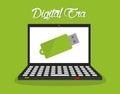 数字式时 技术 免版税图库摄影