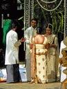 斯里兰卡的夫妇婚礼 库存照片