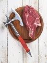 新鲜的肉牛排 库存图片