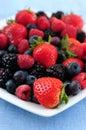 新鲜被分类的浆果 图库摄影