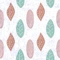 无缝叶子的模式 库存图片