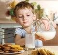 早餐牛奶 图库摄影