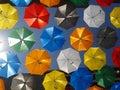 明亮的色的伞 库存照片