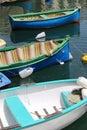 明亮3条的小船 库存照片