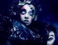 暗的美好的哥特式princess halloween当事人 图库摄影