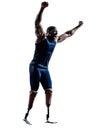 有腿假肢silhouett的有残障的人赛跑者短跑选手 图库摄影
