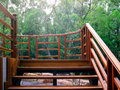 木台阶 库存图片