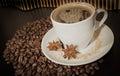 杯和coffe五谷 库存图片