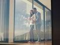 松的  夫妇在家 免版税库存照片