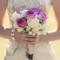 柔和的婚礼花束 图库摄影
