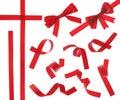 查出的红色丝带 免版税库存图片