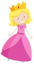 桃红色礼服的小公 库存图片
