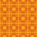 橙色无缝的形状样式背景 免版税库存照片