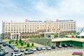 欧亚银行和eurasian natura corporation的大厦 库存照片