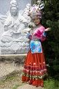汉语打扮传统种族的女孩 免版税库存图片