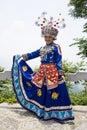 汉语打扮传统种族的女孩 库存照片