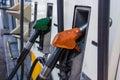 汽车装载的燃料加油站 免版税库存图片