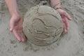 沙子的地球 免版税图库摄影