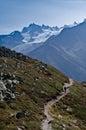 法国阿尔卑斯- Mont Blanc 库存照片