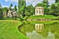 法国,在凡尔赛pa parc的玛丽 安托瓦内特庄园 图库摄影