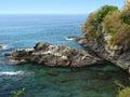 海岸意大利语里维埃拉 免版税库存图片