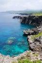 海角umahana在与那国岛海岛,日本 免版税库存图片