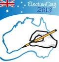 澳大利亚选举日 免版税库存照片