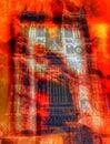 火在修道院教会里 免版税图库摄影