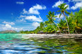 热带海滩风景 图库摄影