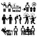 烹调非法药物business syndicate gangster stick阁下形象图表象的化学家 免版税库存图片