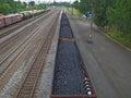 煤炭和燃料的运输由铁路 图库摄影