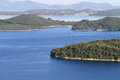 爱奥尼亚人海岛 库存图片