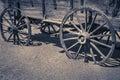 狂放的西部老无盖 车木轮子 免版税库存图片