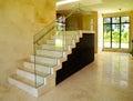 现代内部装饰业-楼梯 免版税库存图片