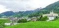 瑞士村庄 免版税库存图片